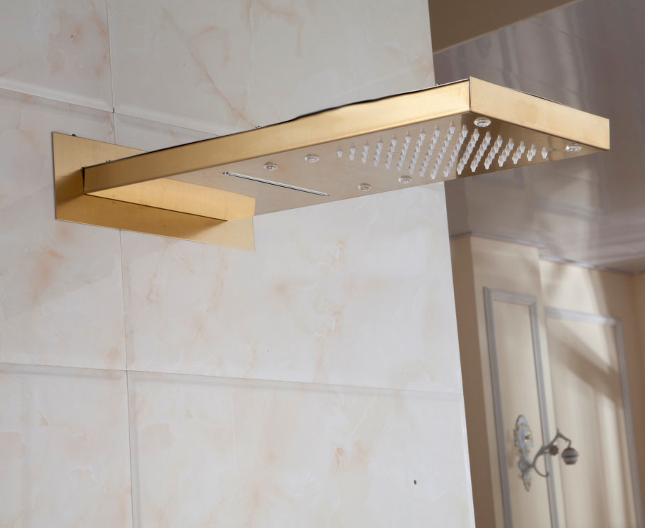 ... Gold Plate Solid Brass Shower Head