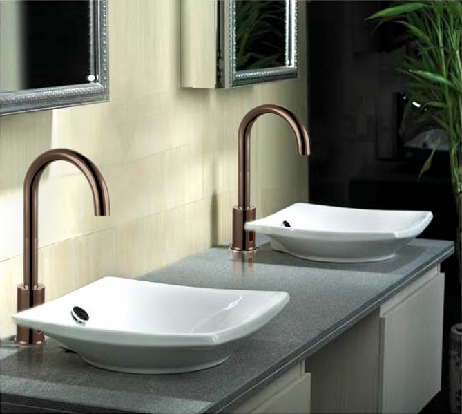 Goose Neck Bathroom Kitchen Sensor Faucet