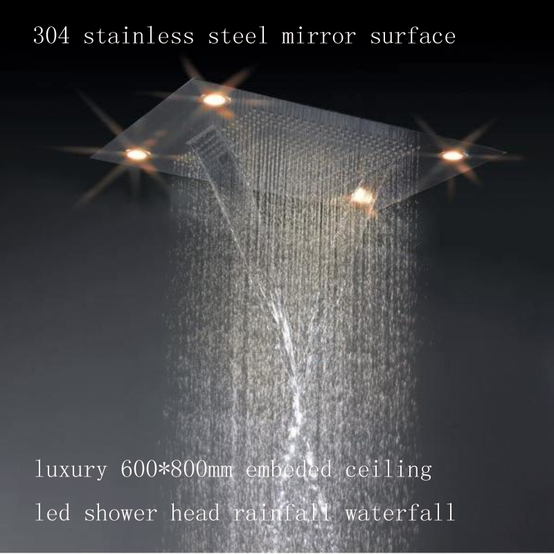 "31"" Stainless Steel Multi Color Water Powered Led Shower"