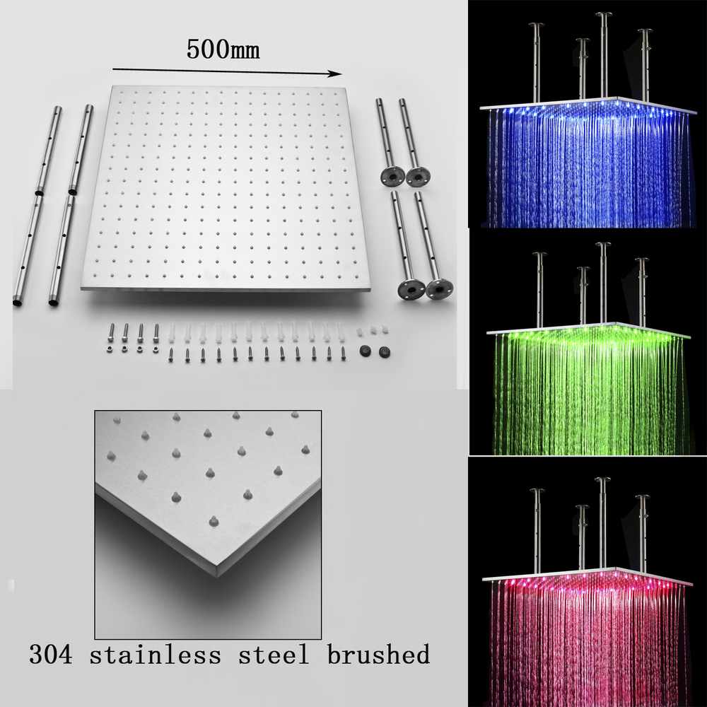 rain shower head with lights. Technical Details Of 20  Stainless Steel Multi Color Water Powered Led Shower With Digital Control Buy With
