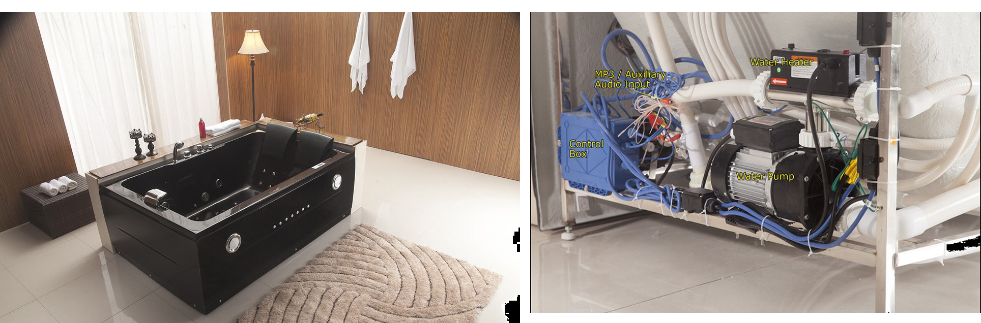 Details Of Juno Jetted Hydrotherapy Massage Whirlpool Bathtub
