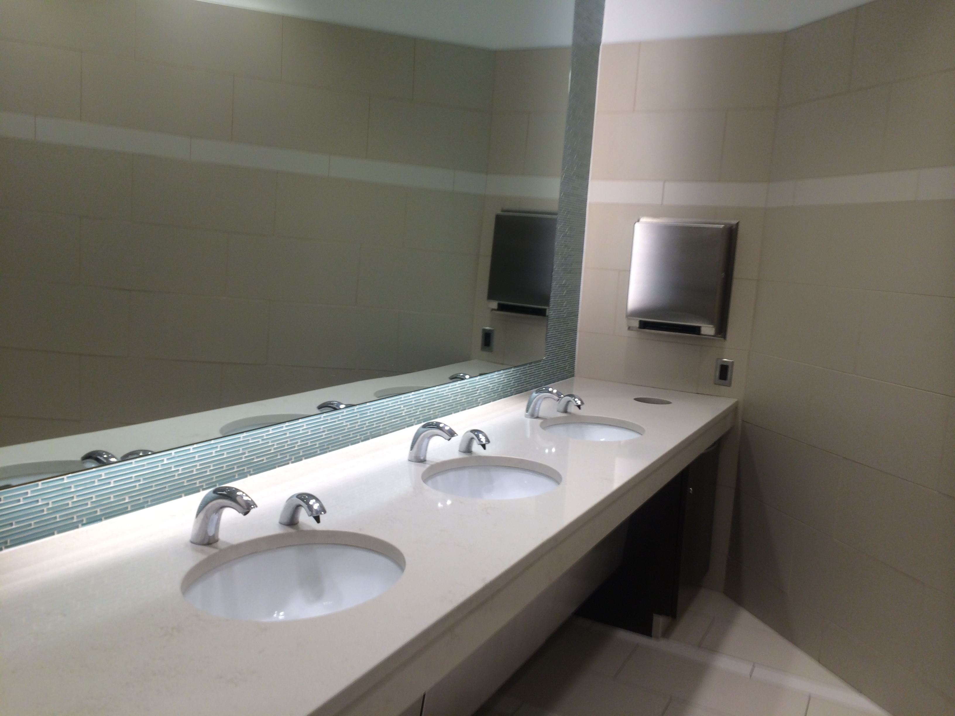 Bathroom sink faucet with sensor bathroom design ideas for Public bathroom sink