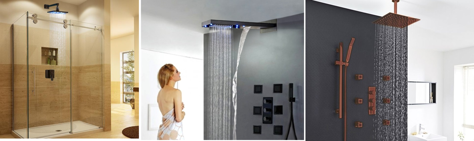 Oil Rubbed Bronze Led Rain Shower Heads
