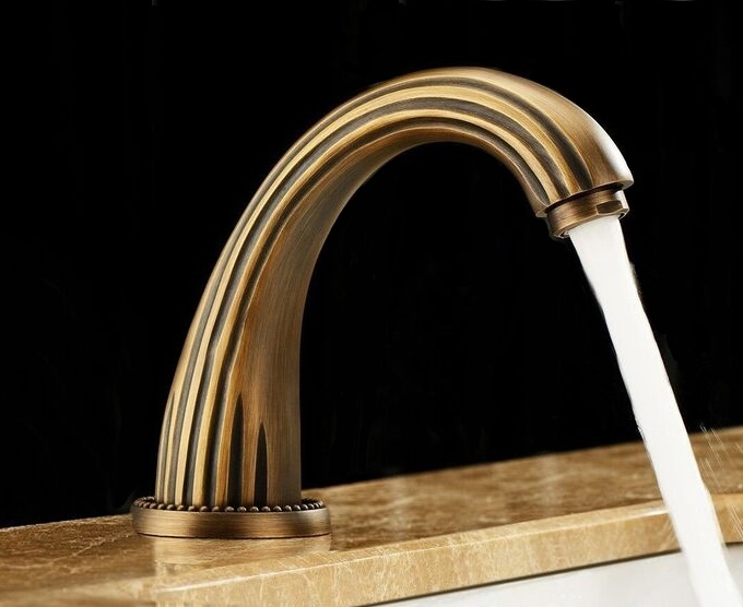 Venice Brass Sensor Faucet Antique Gold Finish