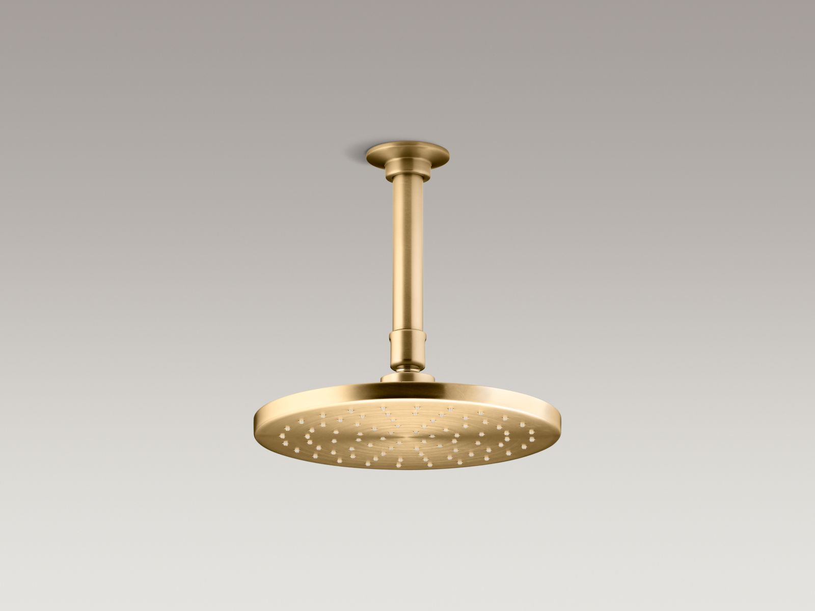 Naples Round Stainless Steel Wall Mount Rainfall Shower Head In Brushed Gold Finish