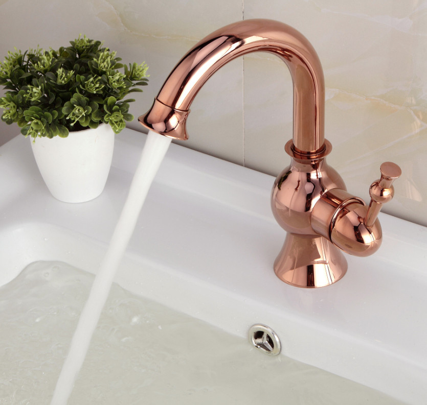 Buy Fiego Rose Gold Sink Faucet Deck Mount Online. Bathselect ...