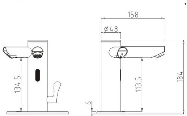Lenox Dual Sensor Faucet with Sensor Soap Dispencer