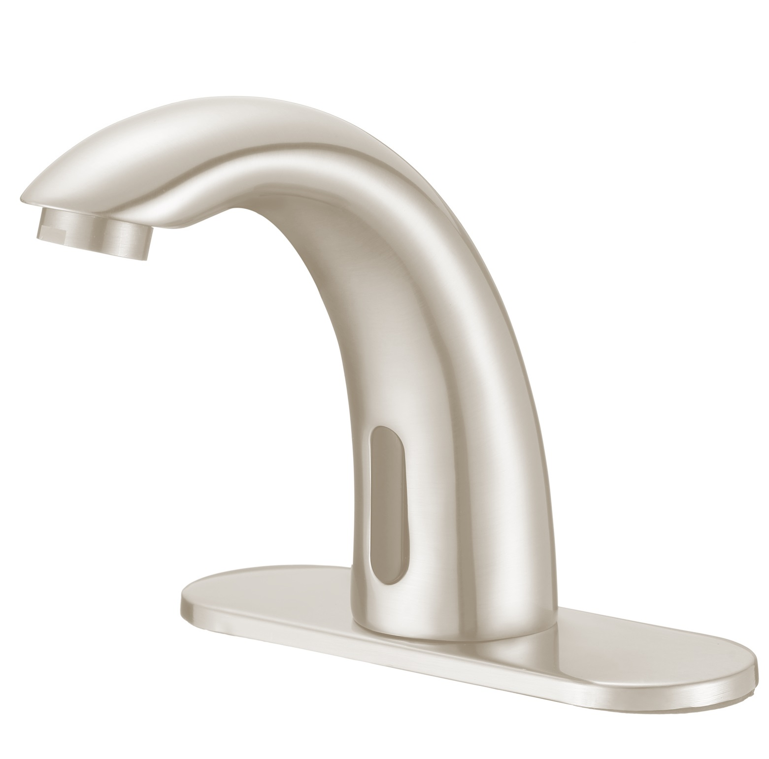 Shop Lano Sensor Faucet In Brushed Nickel Finish At Bathselect - Commercial bathroom faucets touchless