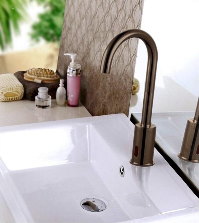 Buy Wella Bronze Goose Neck Sensor Faucet Online. Bathselect Accessories