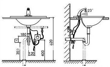 installation instructions ada commercial motion sensor faucets. Black Bedroom Furniture Sets. Home Design Ideas