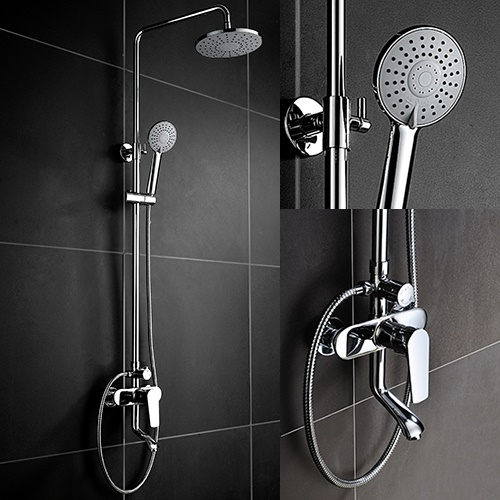 Exposed Tub & Shower Set, Exposed pipe Shower System