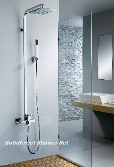 Stainless Steel -with chrome plated top shower