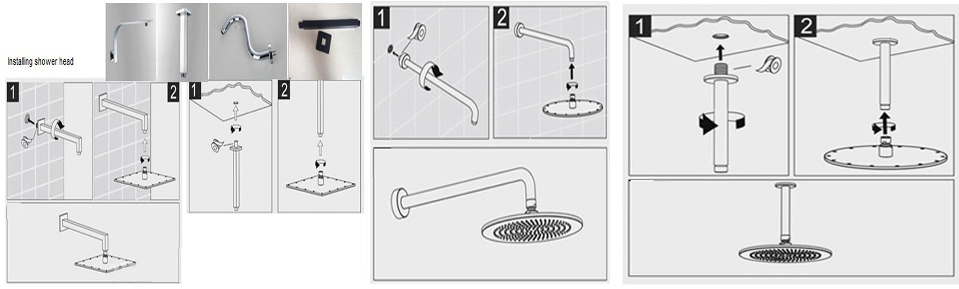 Ceiling Mounted Shower Head Installation Mycoffeepot Org
