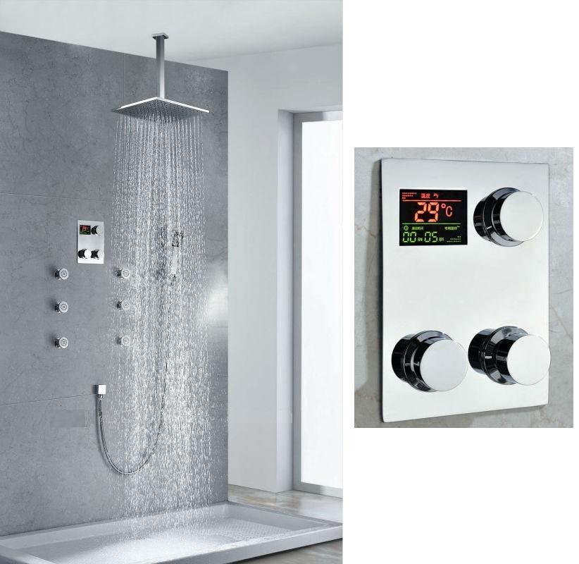 Wonderful Multi Function Thermostatic Digital Display Bathroom Shower