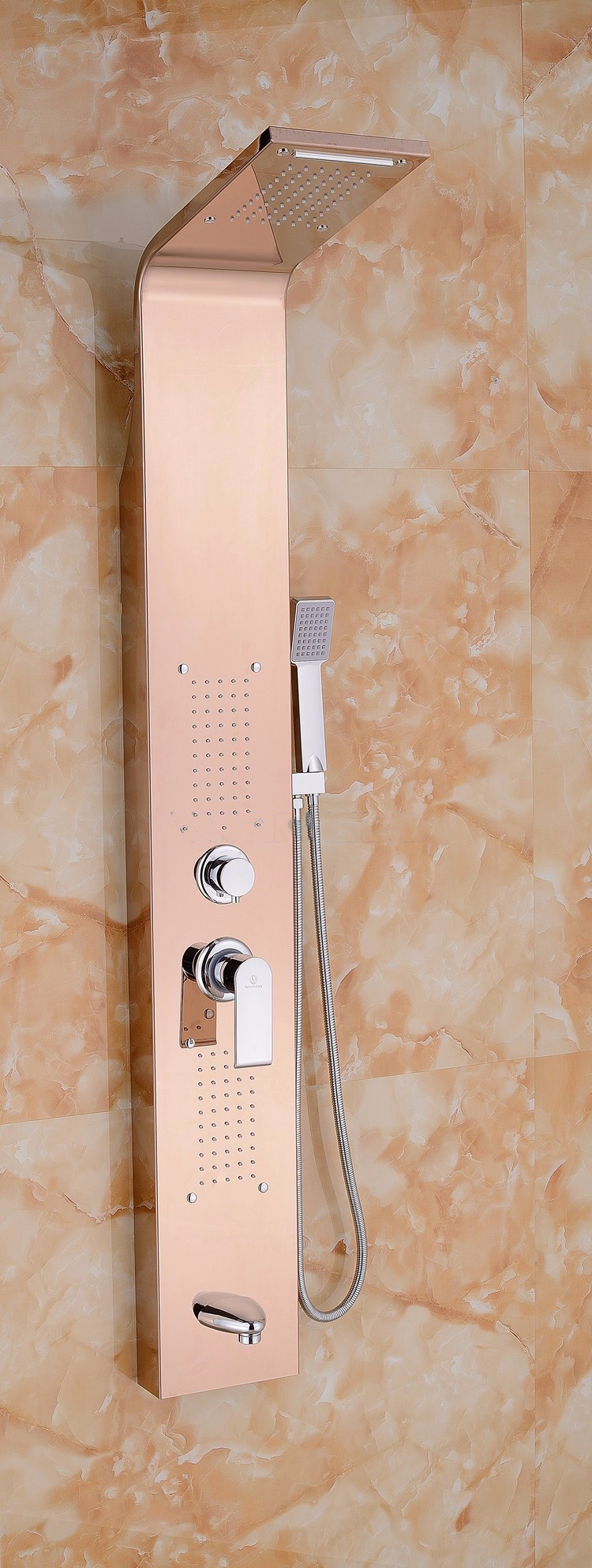 Installation Manual For Pulsating Massage Thermostatic Shower Shower Panel  In Champagne Gold Finish