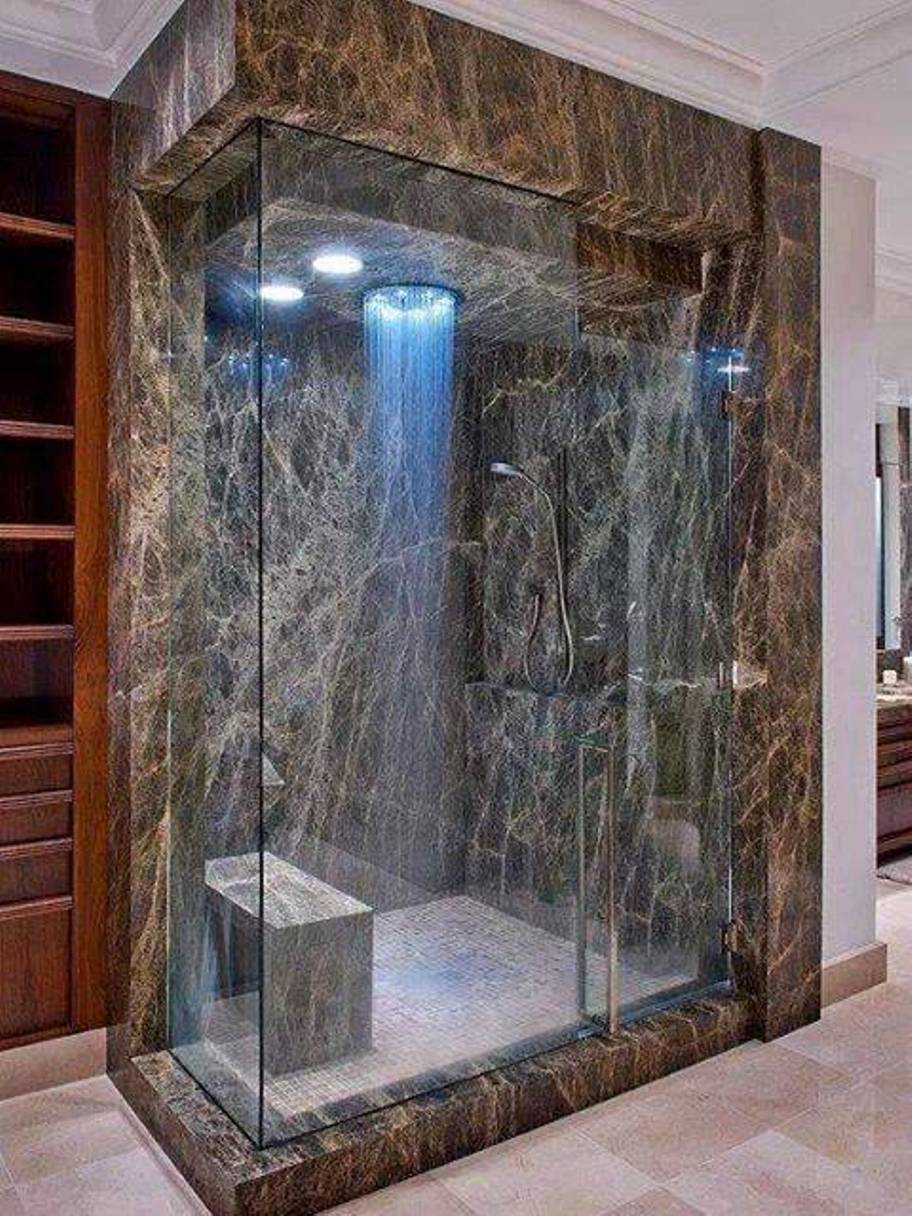 it is no longer the traditional wash under a conventional shower head more and more people are considering custom shower - Luxury Rain Showers
