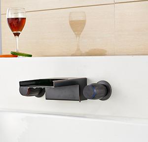 wall-mounted-faucet-dual-handles-waterfall