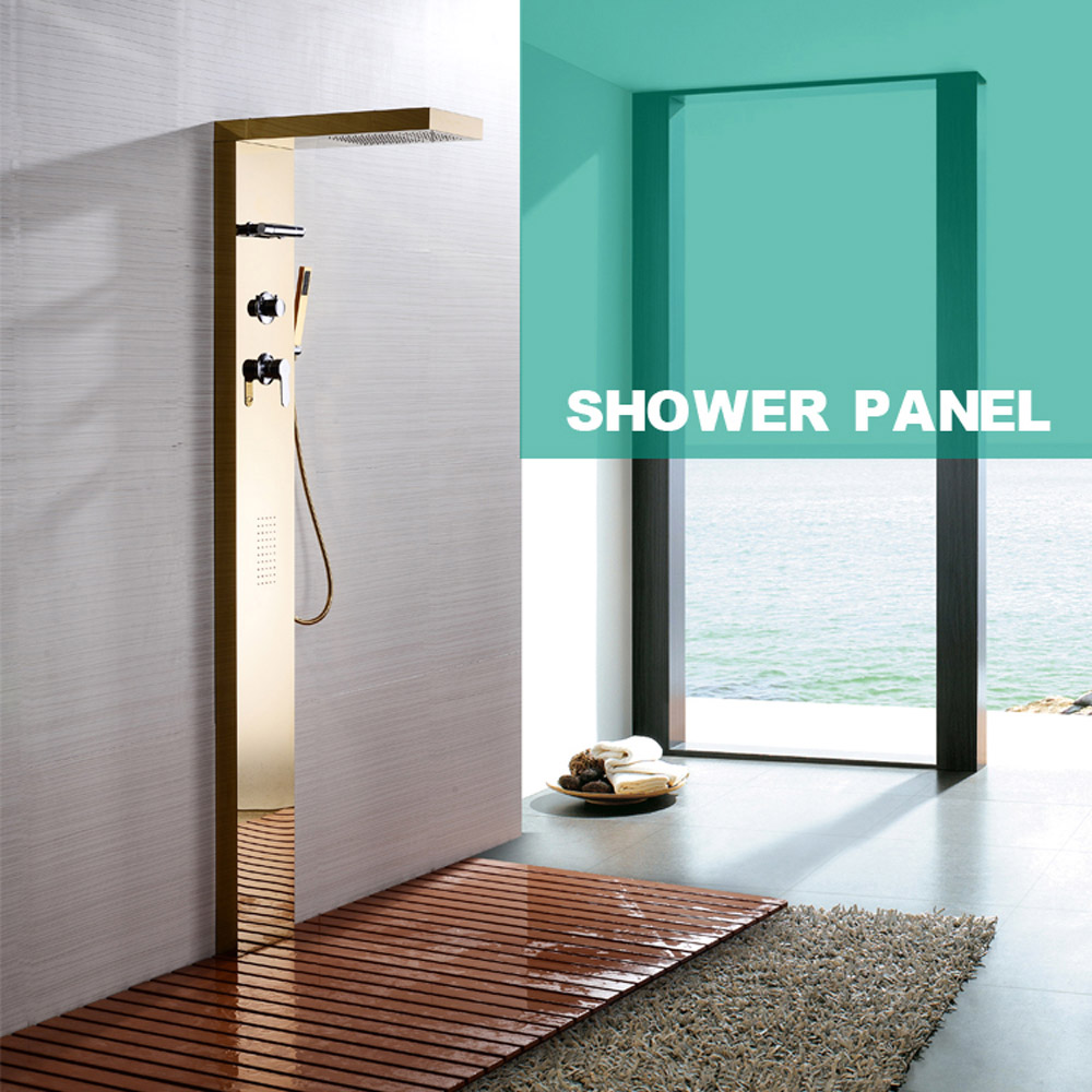 wall-mounted-shower-panel-faucet-bathroom
