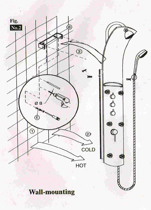 massage shower panels installation shower panels systems. Black Bedroom Furniture Sets. Home Design Ideas