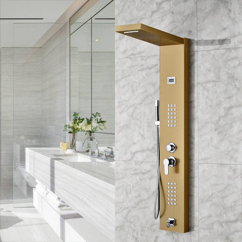 Limar Gold Polish Shower Panel