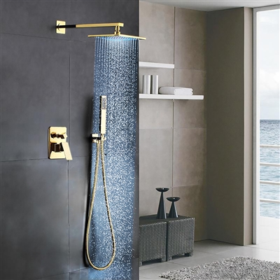 Buy Génial Gold Brass Rainfall Shower Set With Waterfall Tub Spout ...