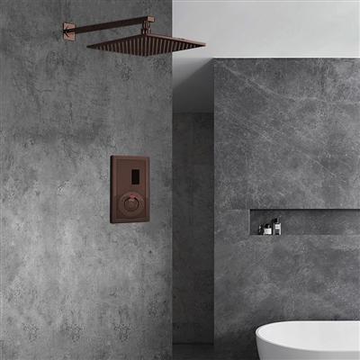 Light Oil Rubbed Bronze Sensor Controlled Automatic Shower Set
