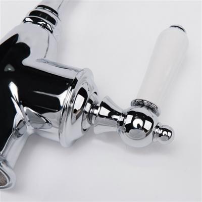 Alexandria Chrome Finish Singled Handle Kitchen Sink Faucet