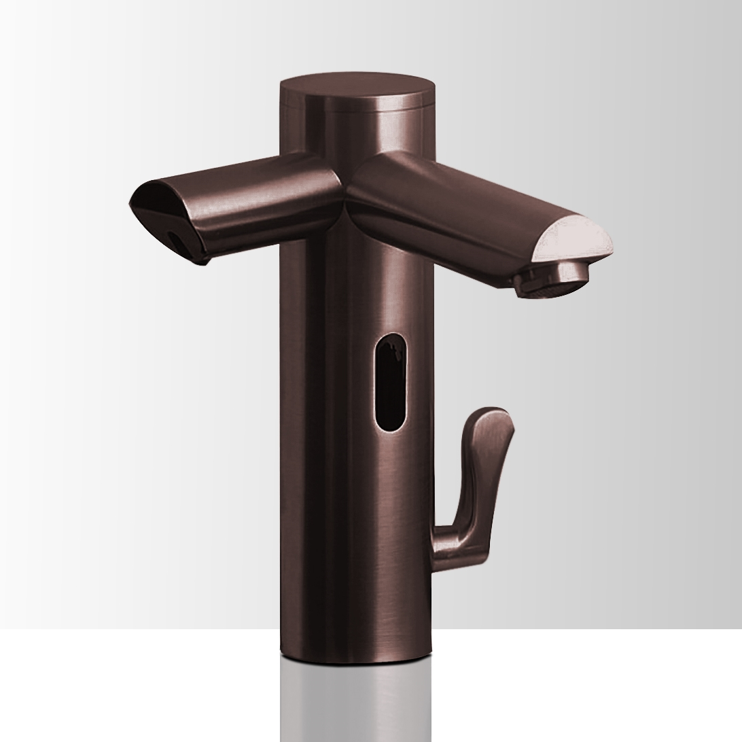 Dual Automatic Commercial Sensor Faucet And Soap Dispenser