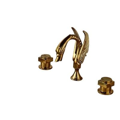 "BathSelect Dragon Gold Finish 8"" Deck Mount Faucet"