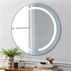 """BathSelect Amazing Rounded LED 20"""" Multi Feature With Touch Control-Vanity Mirror"""