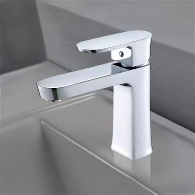Modena Single Handle Deck Mount Bathroom Sink Faucet