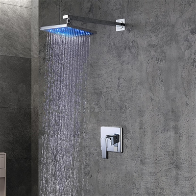 Leonardo LED Light Shower Head with Built in Mixer - (Available in 4 Shower Head sizes)