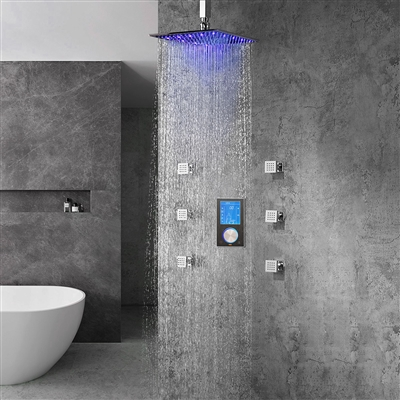 Trialo Solid Brass Ceiling Mount Led Shower