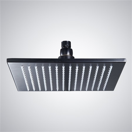oil rubbed bronze led rain shower head. Fontana Oil rubbed Led shower head color changing  LED Shower Set Larger Photo Email A Friend Buy 12 Rubbed Bronze Square Color Changing Rain
