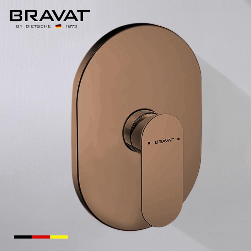 Bravat Single Handle Wall Mount Shower Valve Mixer In Light Oil Rubbed Bronze Finish