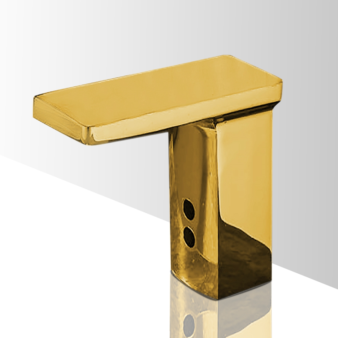 Shop Alinea Polished Gold Tone Finish Sensor Faucet At Bathselect - Gold plated bathroom faucets