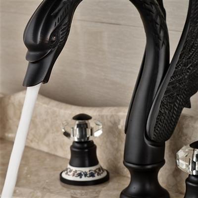 Roman Swan Dark Oil Rubbed Bronze Sink Faucet