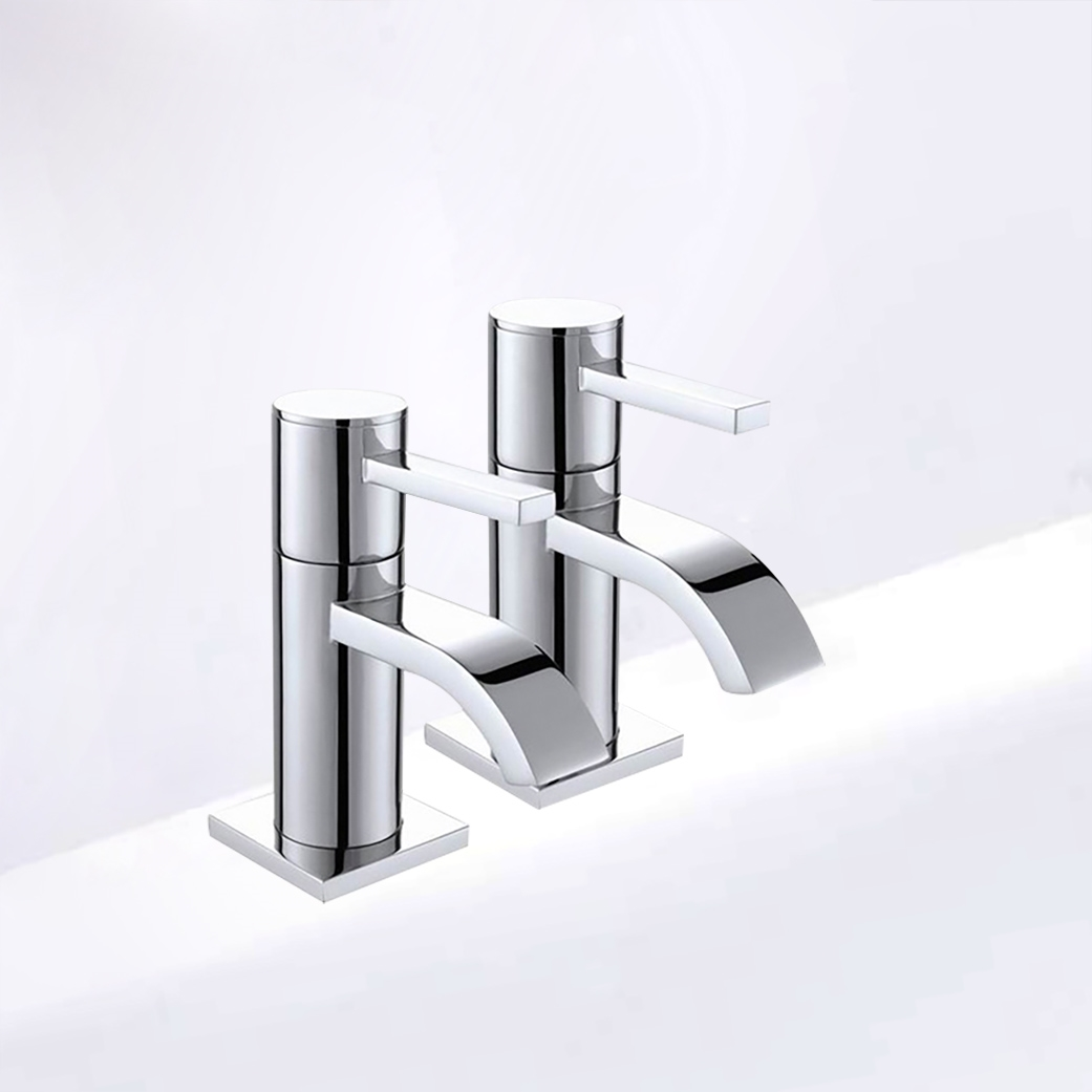 Contemporary H&C Bathroom Faucet