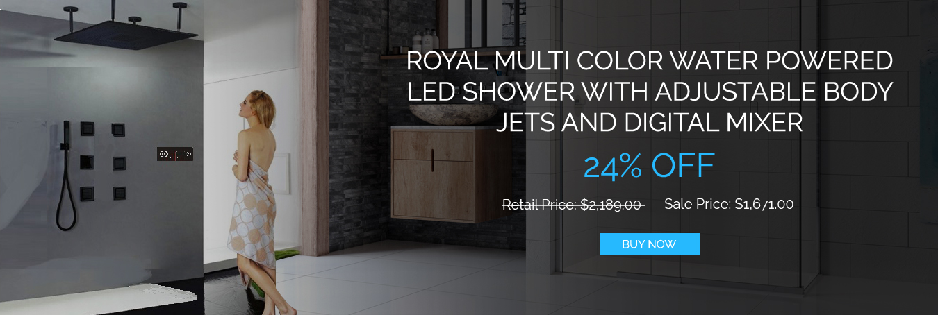 Royal ORB LED Shower Set with Body Jets