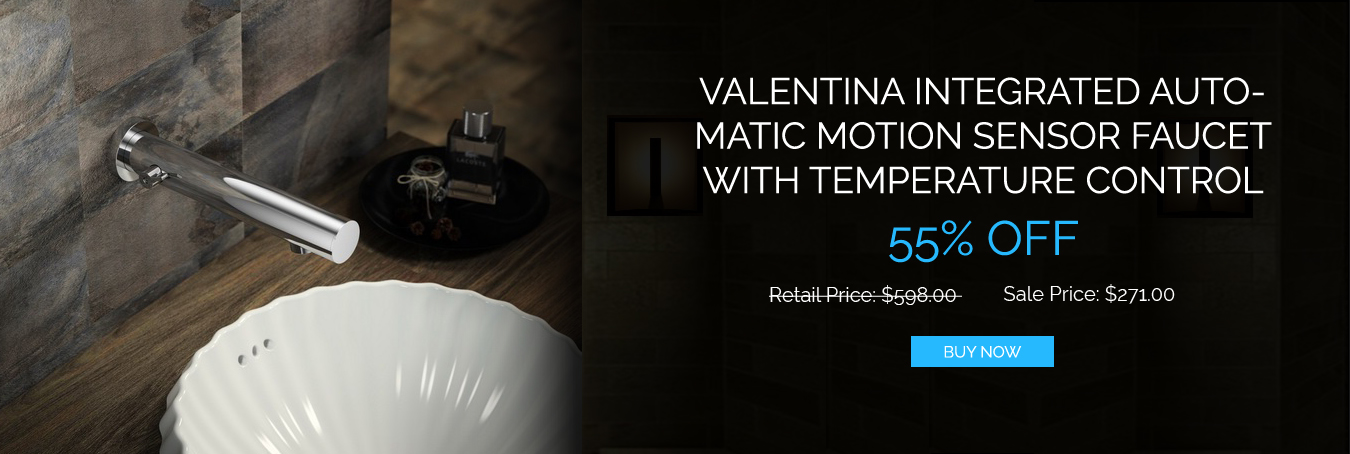 Valentina Integrated automatic motion sensor wall mount faucet with temperature control