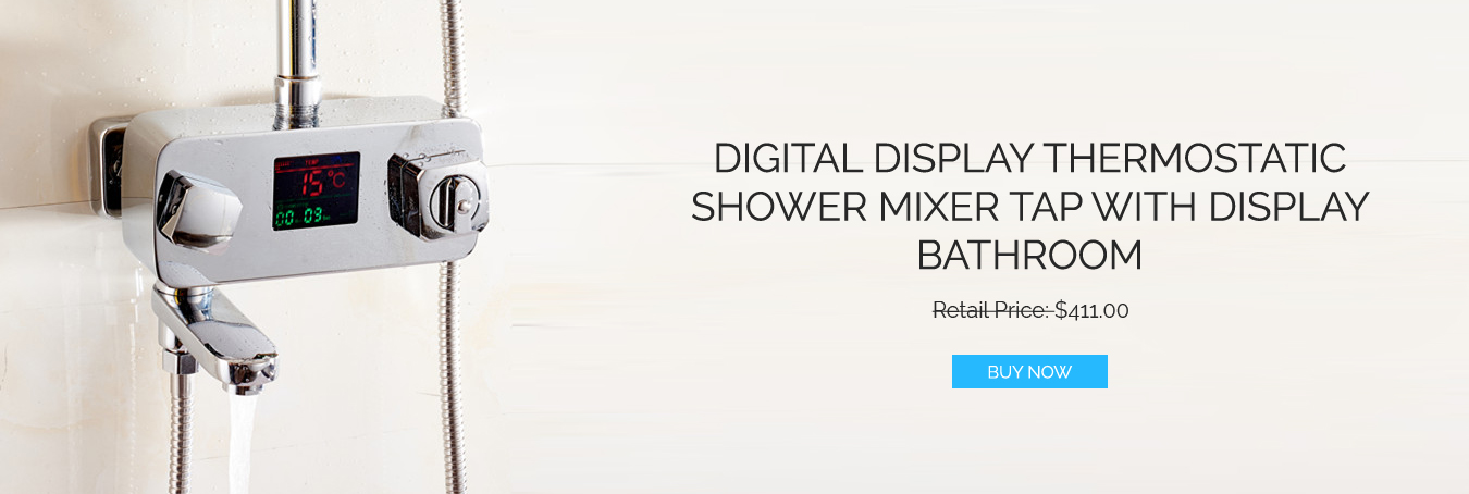 Thermostatic Shower Faucet Mixer Tap With Display